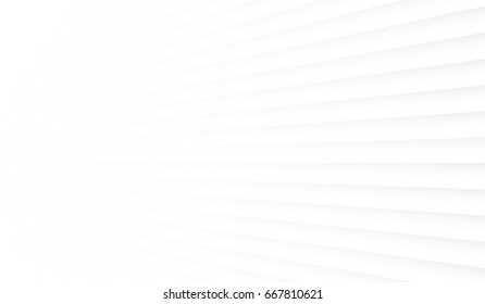 Geometric white background. Panel on the wall in perspective