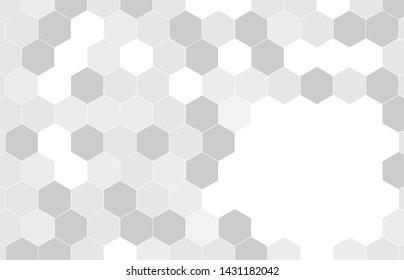 Geometric white  Hexagonal Shapes Background.vector-