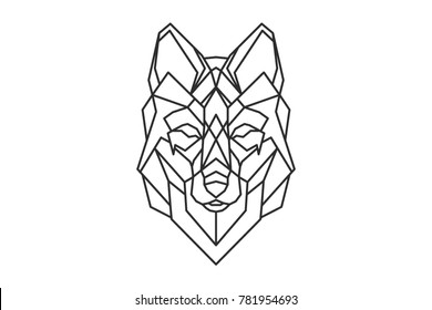 Wolf Tattoo Geometric Images Stock Photos Vectors