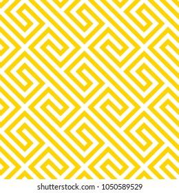 Geometric yellow seamless pattern. Vector illustration.