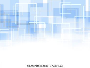 Geometrical blue square background. Vector illustration