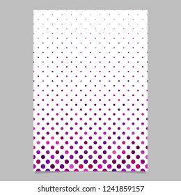 Geometrical circle pattern page background template - vector graphic