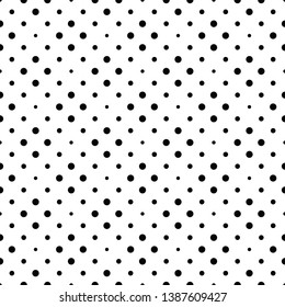 Geometrical dot pattern background - abstract monochrome vector design