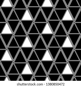 Geometrical figures wallpaper. Triangles, rhombuses, parallelograms, trapeziums pattern. Geometric background. Shapes backdrop. Digital paper, abstract. Seamless ornament.