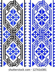 Geometrical Folk Embroidery Border