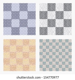 Geometrical pattern, seamless background for floor tiles, vector