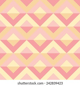 Geometrical seamless pattern. Pink and yellow.