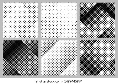 Geometrical square pattern background collection - abstract vector graphic designs from squares