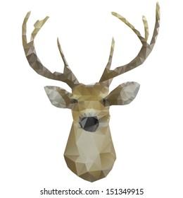 geometrical stylized deer head
