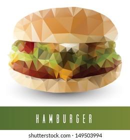 geometrical stylized hamburger