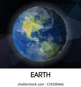 geometrical stylized planet