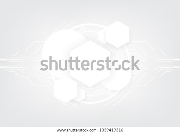 Geometrical technology abstract background with innovation concept, Vector illustration, Space for custom to put a message.