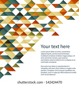 Geometrical vector pattern background