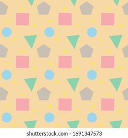 Geometrischer Hintergrund. Pastellfarbener Hintergrund. Mischung der Geometrie.