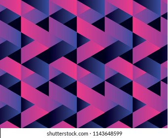 Geometry colorful abstract seamless pattern for background, wrapping paper, fabric, surface design. Stock vector illustration