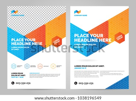 geometry colorful brochure layout template cover stock vector