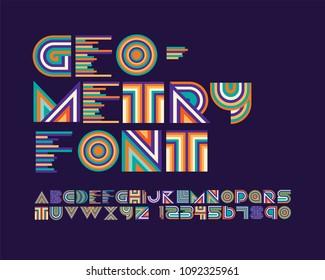 Geometry font set
