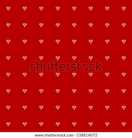 Geometry Heart Pattern On Red Background Stock Vector Royalty Free