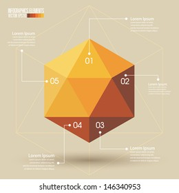Geometry Infographics Template vector