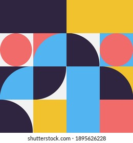 Geometry minimalist artwork poster with simple shape. Abstract vector pattern design in Scandinavian style  . Suitable for for web banner, business presentation, branding package, fabric print,etc
