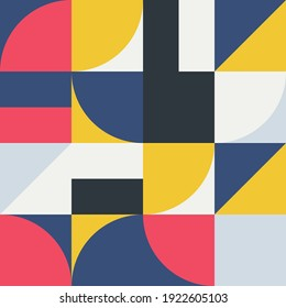Geometry minimalist in red yellow grey and dark design with simple shape and figure Abstract vector pattern design style for web banner.