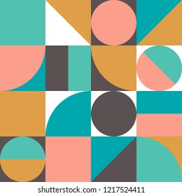Geometry minimalistic decorative ornament of geometric shapes. Abstract vector pattern design.