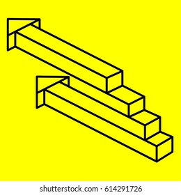 Geometry. Optical illusion arrow