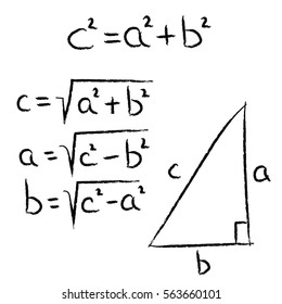 geometry school hand drawn elements Pythagoras