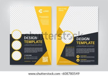 Geometry Yellow Brochure Flyer Design Template Stock Vector Royalty