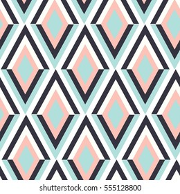 geometry zig zag vector pattern. ethnic seamless ornament. Abstract background - colorful lines. Vector illustration.