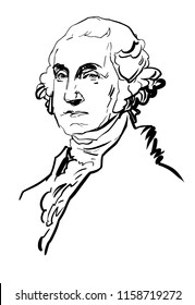 George Washington, president of the United States.  Statesman.