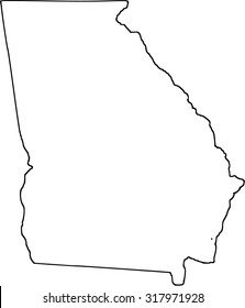 Map Of Georgia Outline.Georgia Outline Images Stock Photos Vectors Shutterstock