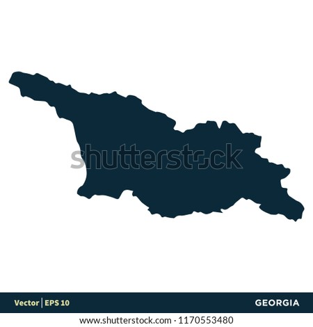 Georgia Europe Countries Map Vector Icon Stock Vector Royalty Free