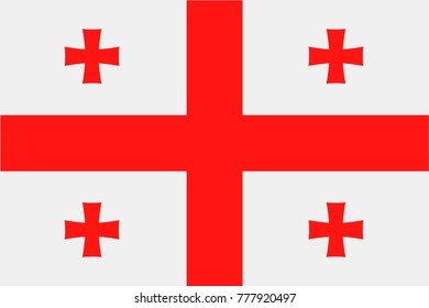 Georgia Flag Vector Icon - Illustration