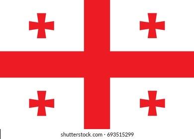 Georgia Flag vector illustration. Georgia Flag. National Flag of Georgia.