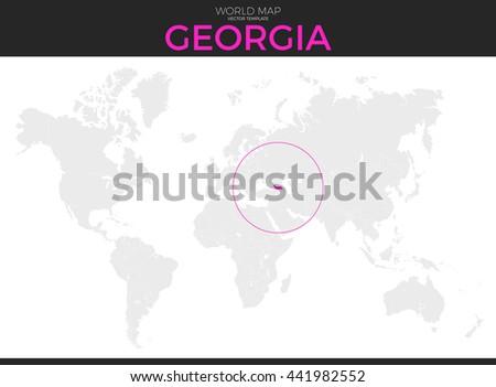 Georgia Location Modern Detailed Vector Map Stock Vector ...