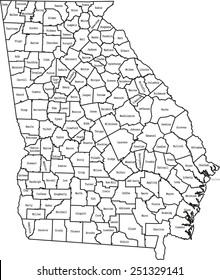 State Of Georgia County Map.Georgia County Map Images Stock Photos Vectors Shutterstock