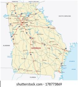 Road Map Of Florida And Georgia.Imagenes Fotos De Stock Y Vectores Sobre Florida Georgia Map