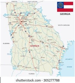 Highway Map Of Georgia.Georgia Highway Map Stock Vectors Images Vector Art Shutterstock