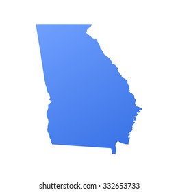 Georgia state border,map
