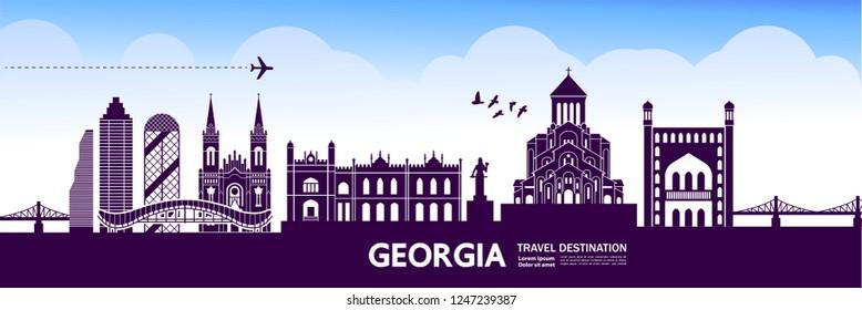 Georgia Travel Destination Vector.