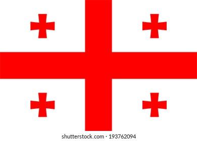 Georgia vector flag.
