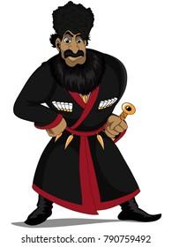 Georgian character illustration