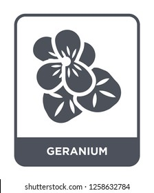 geranium icon vector on white background, geranium trendy filled icons from Nature collection, geranium simple element illustration, geranium simple element illustration