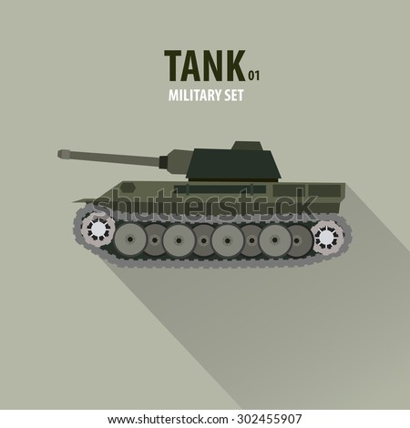 912a2d2fae866 German Battle Tank Side View Military Stock Vector (Royalty Free ...