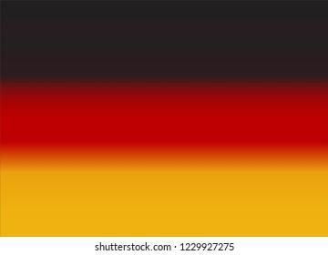 German Black Red Gold Gradient Flag