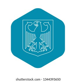 German coat of arms icon. Outline illustration of german coat of arms vector icon for web