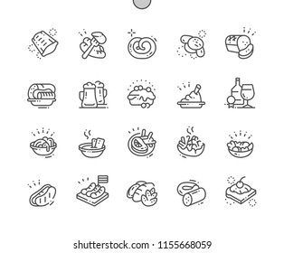 German cuisine Well-crafted Pixel Perfect Vector Thin Line Icons 30 2x Grid for Web Graphics and Apps. Simple Minimal Pictogram