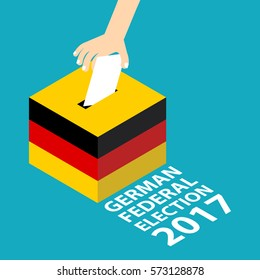 German Federal Election 2017 with Germany National Flag Colors Scheme Vector Illustration Flat Style