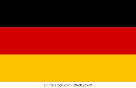 German or Federal Republic of Germany DE official national flag sign icon flat vector